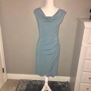 NWT SZ S ANN TAYLOR AQUAMARINE SHEATH DRESS